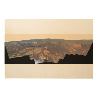 Matijevic Hill Panorama From Mars Rover Wood Canvases