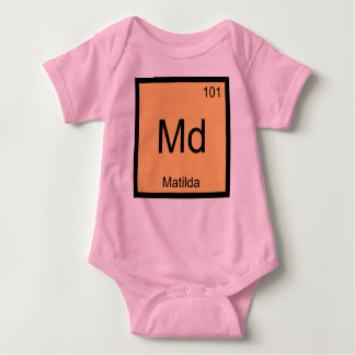 Matilda Name Chemistry Element Periodic Table Baby Bodysuit