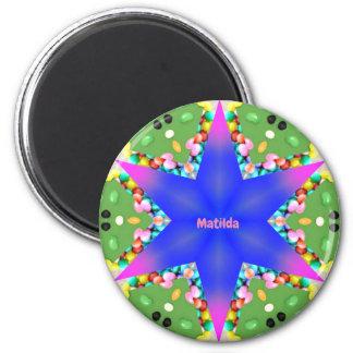 MATILDA~ Personalized Easter Star Fractal ~ Magnet