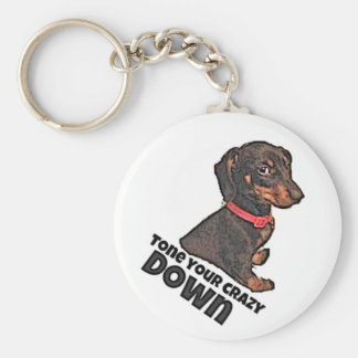 Matilda's tone your Crazy down Basic Round Button Key Ring