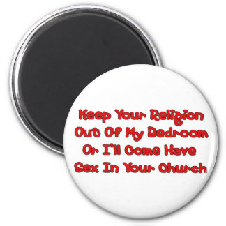 Mating In Your Church 6 Cm Round Magnet