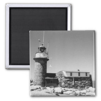 Matinicus Rock Lighthouse Square Magnet