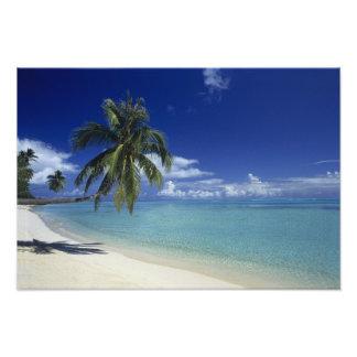 Matira Beach on the island of Bora Bora, 2 Photo Print