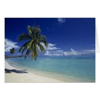 Matira Beach on the island of Bora Bora, Card