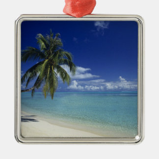 Matira Beach on the island of Bora Bora, Christmas Ornament