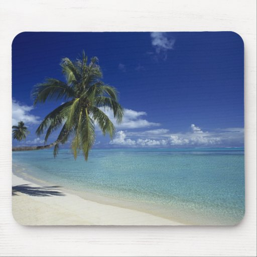 Matira Beach on the island of Bora Bora, Mouse Pad