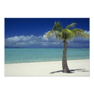 Matira Beach on the island of Bora Bora, Photographic Print
