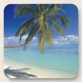 Matira Beach on the island of Bora Bora, Society Drink Coasters