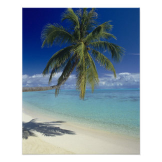 Matira Beach on the island of Bora Bora, Society Poster