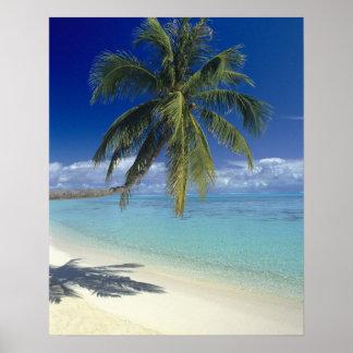 Matira Beach on the island of Bora Bora, Society Posters