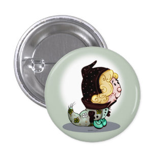 MATISE FUNNY ALIEN MONSTER  Round Button