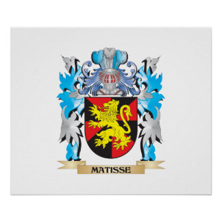 Matisse Coat of Arms - Family Crest Print