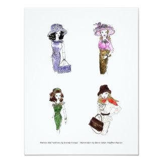 Matisse Doll Fashion Watercolors 3 11 Cm X 14 Cm Invitation Card