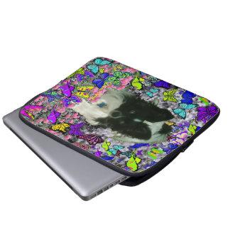 Matisse in Butterflies II - White & Black Papillon Laptop Computer Sleeves