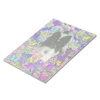 Matisse in Butterflies II - White Black Papillon Memo Notepad