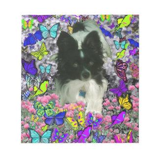 Matisse in Butterflies II - White Black Papillon Notepad