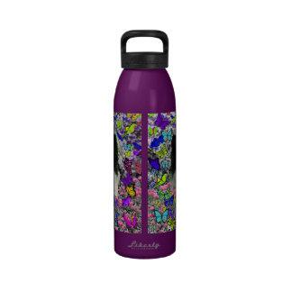 Matisse in Butterflies II - White & Black Papillon Water Bottle