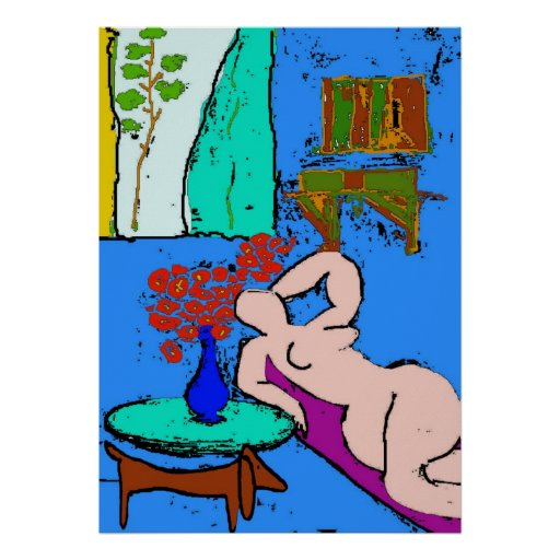 Matisse Nude with Dachshund 2 Posters
