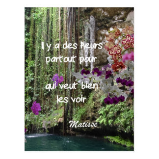 Matisse quote in french postcard