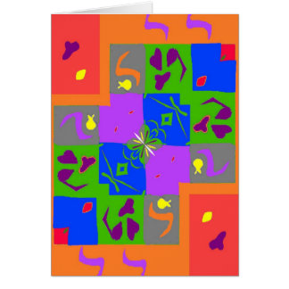 Matisse Style Shapes Greeting Card