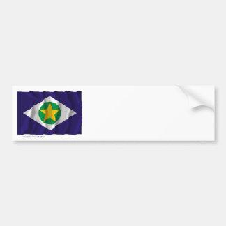 Mato Grosso, Brazil Waving Flag Bumper Sticker