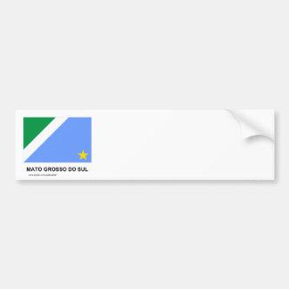 Mato Grosso do Sul, Brazil Flag Bumper Sticker