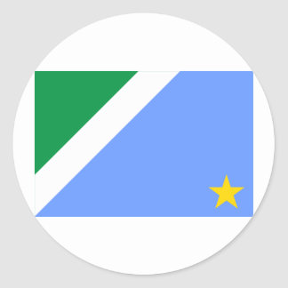 Mato Grosso do Sul, Brazil Flag Round Sticker