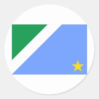 Mato Grosso do Sul, Brazil Flag Round Sticker