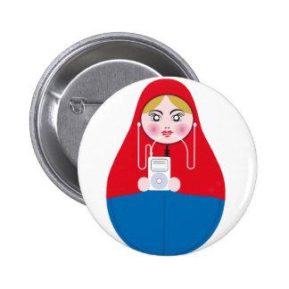 matrioska 6 cm round badge