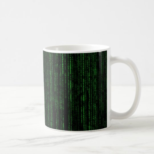 Matrix Binary Code 325 ml Classic White Mug