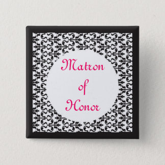 Matron of Honor 15 Cm Square Badge