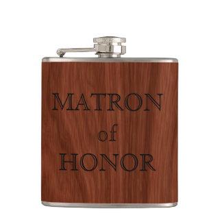 Matron of Honor Bachelorette Party   Wedding Favor Hip Flask
