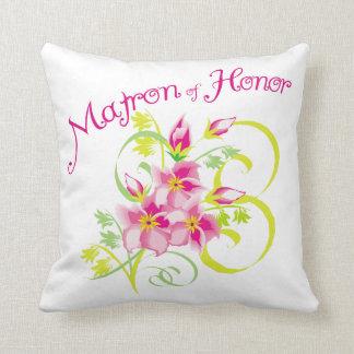 Matron of Honor Bridal Party Cushions