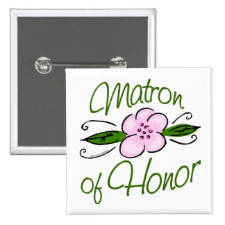 Matron of Honor Buttons