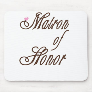 Matron of Honor Classy Browns Mouse Pad