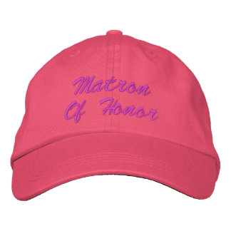Matron Of Honor Embroidered Hat