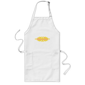 Matron of Honor Golden Yellow Vintage Style Banner Long Apron