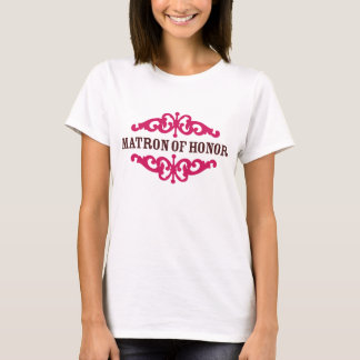Matron of Honor (Hot Pink & Chocolate Brown) T-Shirt