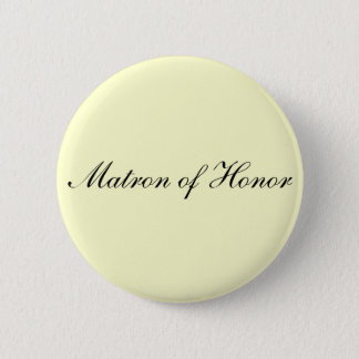 Matron of Honor Ivory Button