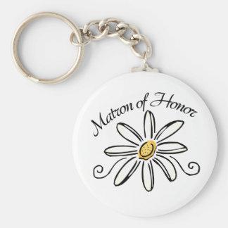 Matron of Honor Key Ring