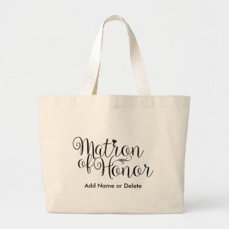 Matron of Honor Large Canvas Tote Bag