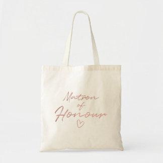 Matron of Honor - Rose Gold faux foil tote bag