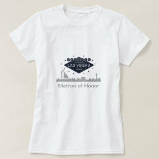 """Matron of Honor"" Silhouette Wedding in Las Vegas  T-Shirt"