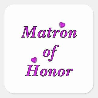 Matron of Honor Simply Love Square Sticker