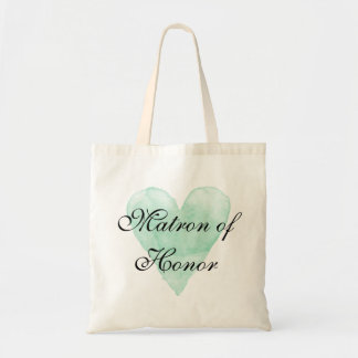 Matron of honor tote bag with stylish calligraphy