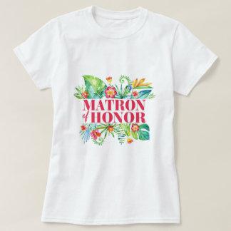 Matron of Honor Tropical Beach Destination Wedding T-Shirt