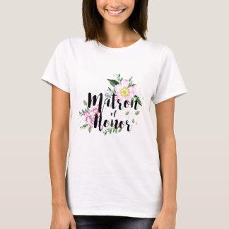 Matron of honor Watercolor Wedding T-Shirt