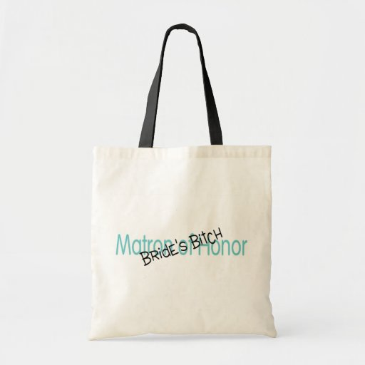 Matron of Honour Brides Bitch Teal Budget Tote Bag