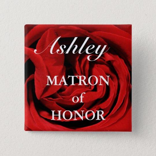 Matron Of Honour Button