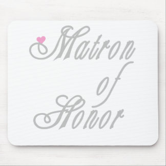 Matron of Honour Classy Greys Mouse Pad